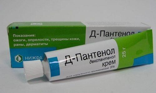 Как вспомогательное средство пациентам рекомендуют применять Д-Пантенол